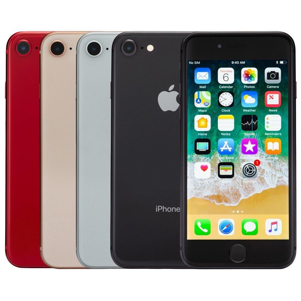 SELLER REFURBISHED APPLE IPHONE 8 SMARTPHONE AT&T SPRINT T-MOBILE VERIZON OR UNLOCKED 4G LTE IOS