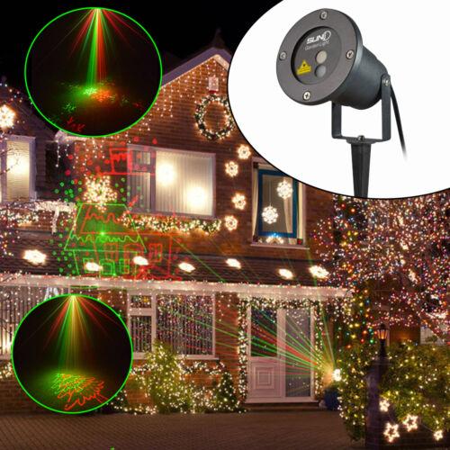 Proiettore rg laser proiettore giardino casa natale luci - Luci led esterno giardino ...
