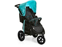 EXDISPLAY HAUCK VIPER SPORTY JOGGER 3 WHEELER BUGGY PRAM PUSHCHAIR FROM BIRTH IN BLUE BLACK