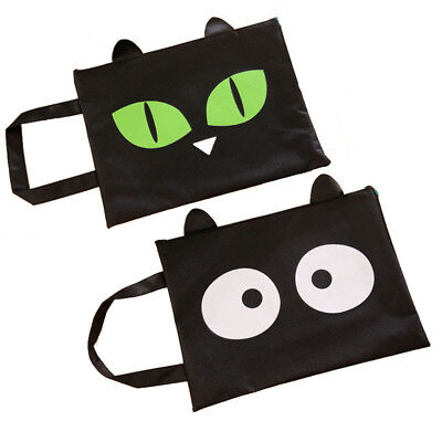 1pc File Bag A4 Cute Stationery Canvas File Folder Document Filling Bag Kawaii