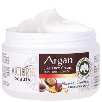 Day Face Cream with Pure Argan Oil - Victoria Beauty - All...