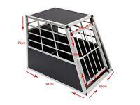 Aluminium Pet Car Crate Travel Cage Dog Puppy Cat Transport Kennel