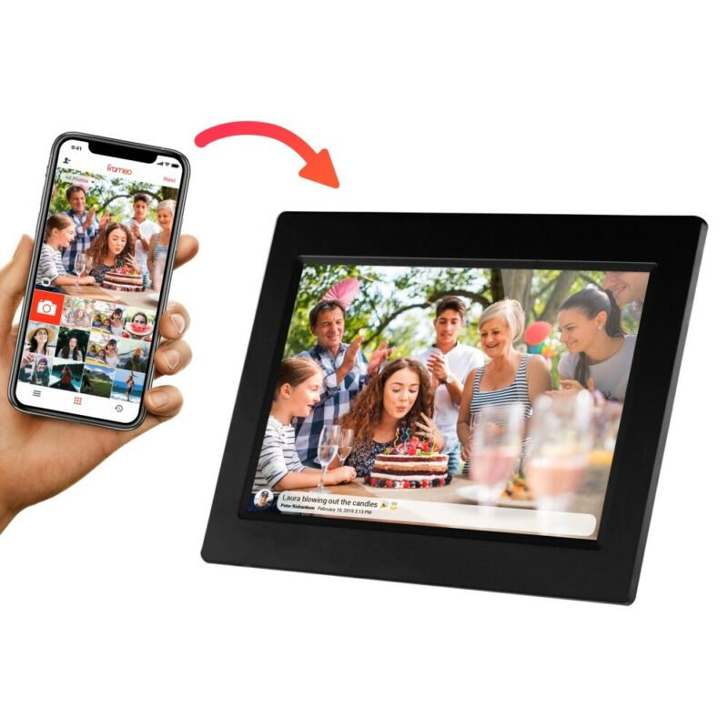 "Sylvania SDPF1095 10"" Smart Digital Picture Frame 8GB / WiFi / IPS Touchscreen"