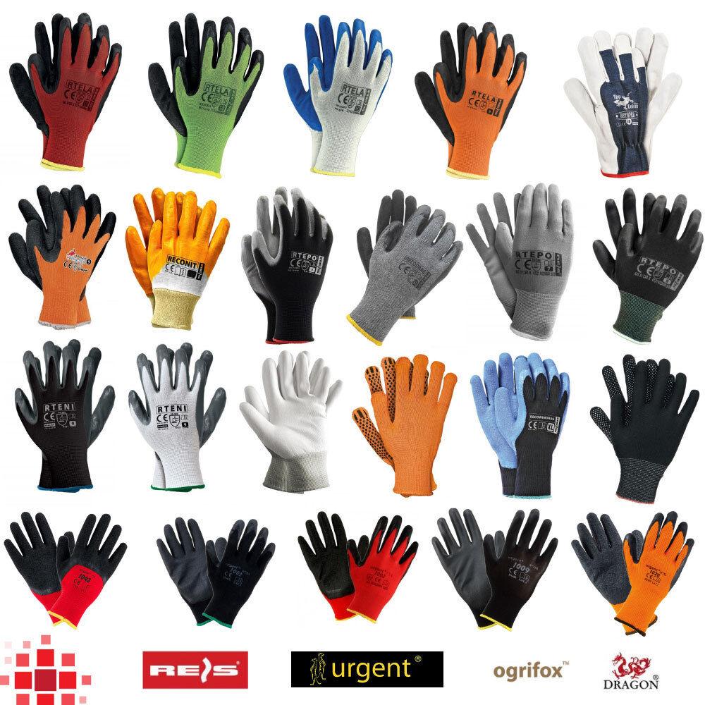 12 240 PAAR Arbeitshandschuhe Mechaniker Garten Winter Handschuhe Nitril Latex
