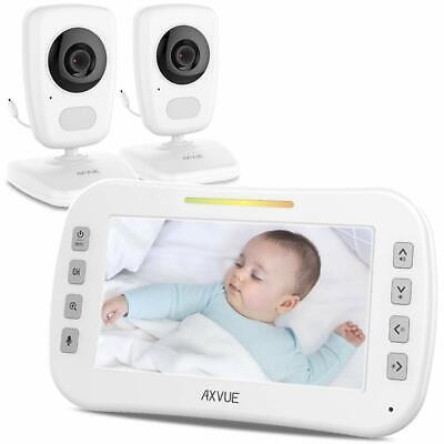 Video Baby Monitor with Two Cameras and Wide Screen by Axvue Model E632 Auto-...