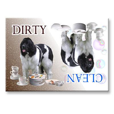 LANDSEER Clean/Dirty DISHWASHER MAGNET Must See DOG
