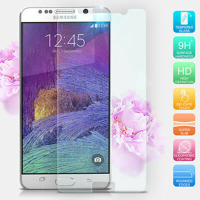 Premium Real Tempered Glass Screen Protector Guard For Samsung Galaxy Note 5