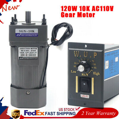 120w Ac 110v Gear Motorspeed Controller Rated Speed 0-135rpm Single-phase Power