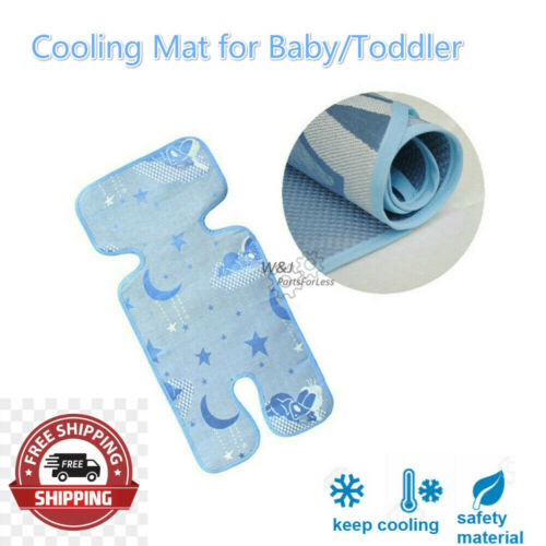 Toddler/Kid Stroller Car Seat Mat Cushion Baby Cool Liners Pad Ice Cooling Mat
