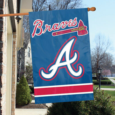 Atlanta Braves Applique - ATLANTA BRAVES APPLIQUE BANNER HOUSE FLAG OUTDOOR 44