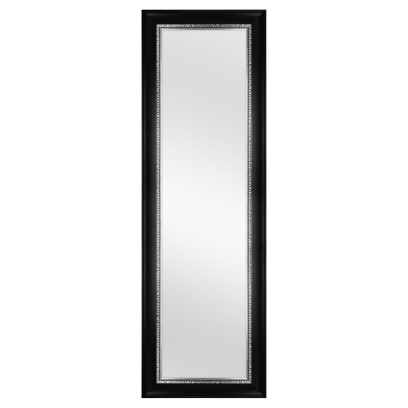 "Over the Door Mirror Black Pewter 17"" x 53"" Four Adjustable"