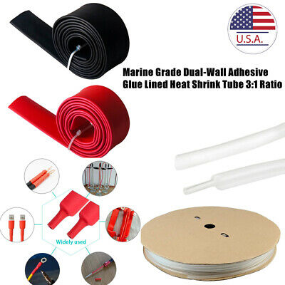 Waterproof 31 Ratio Dual Wall Adhesive Glue Lined Heat Shrink Tube Marine Grade