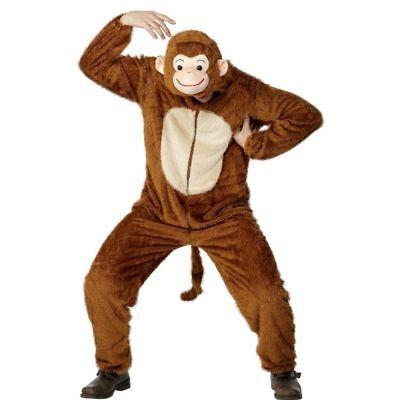 Smi - Unisex Kostüm Affe Affenkostüm Schimpanse Karneval Fasching