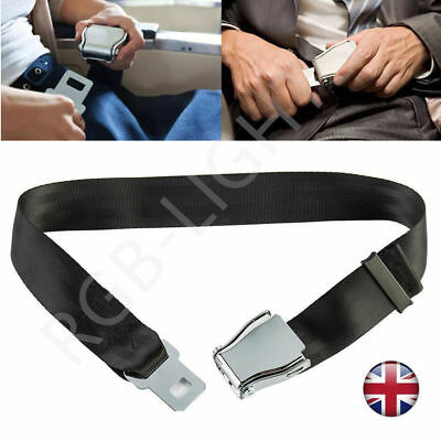Adjustable Airplane Seat Belt Extension Extender Airline Buckle Aircraft UK Safe