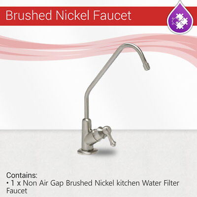 - Reverse Osmosis Non Air Gap Brushed Nickel Finished kitchen Water Filter Faucet