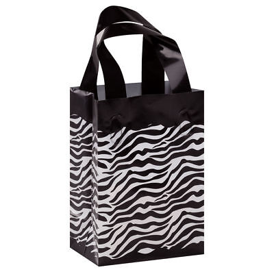 Plastic Bags Zebra Print 25 Frosted Gift Frosty Merchandise 5 X 7 X 3 Handles