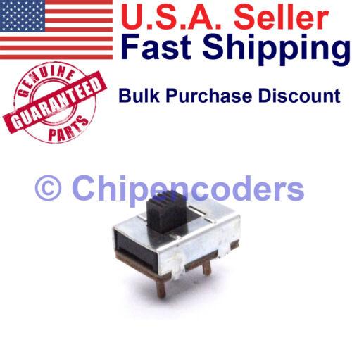 Stackpole SPDT Slide Switch PCB Mount 1 Amp at 125v AC and .5 Amp at 125v DC