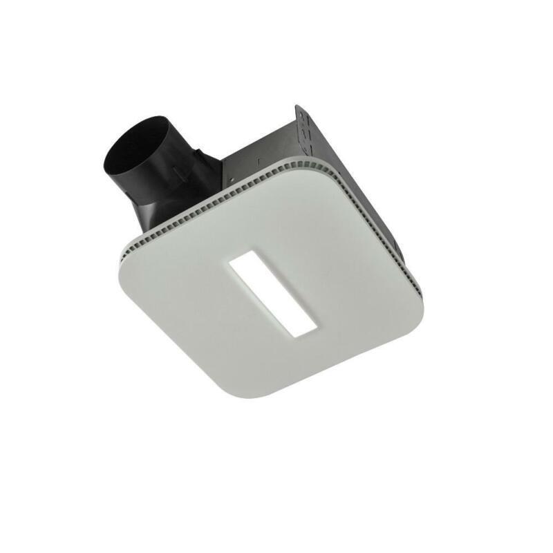 NuTone InVent DC Series 110 CFM Ceiling Bathroom Exhaust Fan w LED light /722