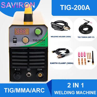 Tigmmaarc Welding Machine 200a Igbt Inverter Hf Welder Air Cooling Portable