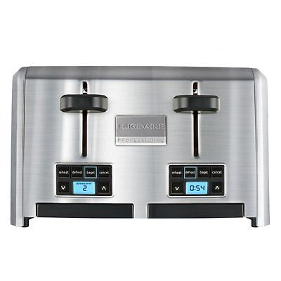 Frigidaire Professional 4 Slice Wide Slots 5 Function Stainless Steel Toaster