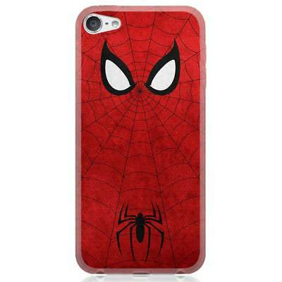 Apple iPhone 6/6S/6 Plus/7/7 Plus/8/8 Plus/X Case Cover Spiderman Minimal Red