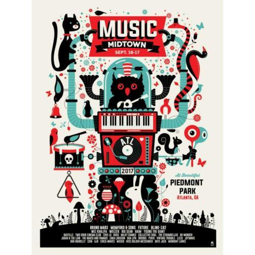 Music Midtown Poster Atlanta GA  Signed & Numbered Edition