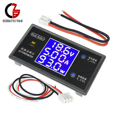 Dc 50v 5a 250w Digital Lcd Voltmeter Wattmeter Voltage Current Power Detector