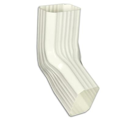 Spectra Metals 2 X 3 In. Vinyl White Front Or Side Downspout Elbow 3abrtadp