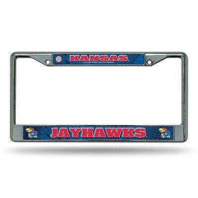 Kansas KU Jayhawks Chrome Metal License Plate Frame FREE US SHIPPING