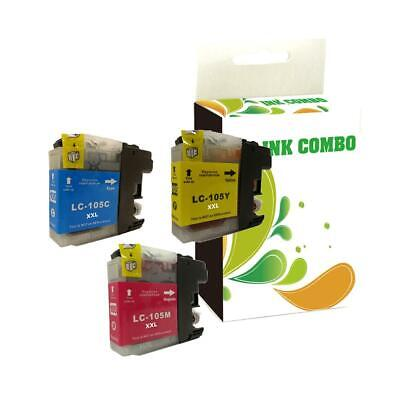 3 pk LC105 ink Cartridge for Brother MFC-J4310DW MFC-J4410DW Printer BEST