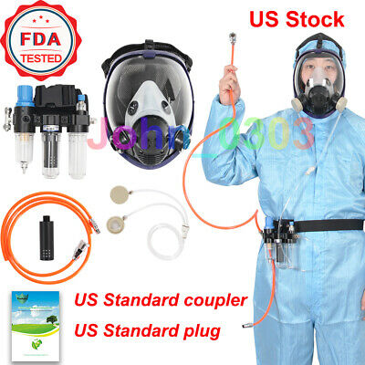 Three-in-one Function Supplied Air Fed Respirator System 6800 Full Face Gas Mask