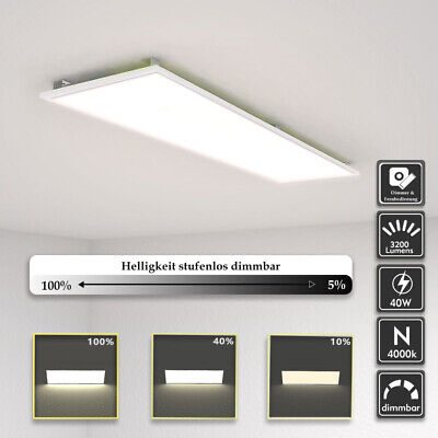 LED Panel dimmbar Ultraslim Pendelleuchte 120x30cm Wandleuchte Deckenlampe Ultra Slim Panel