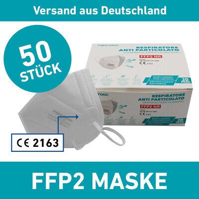 FFP2 50er Set Mundschutz Maske Firstdoc Mund Nasen Schutz Antiviral Virenschutz
