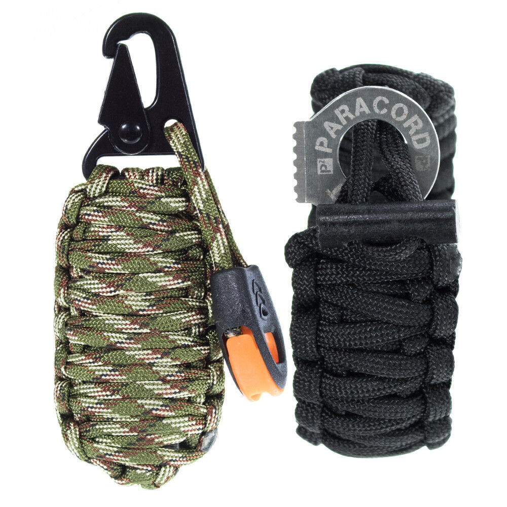 Fire Starter 14 in 1 Paracord Grenade Survival Kit Keychain