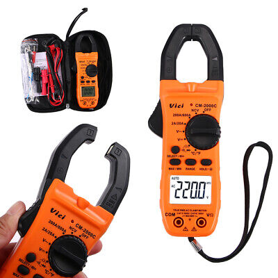 New Digital Clamp Meter Tester Acdc Multimeter Test Ncv Resistance Temperature