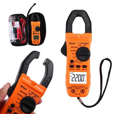 New Digital Clamp Meter Tester Acdc Multimeter Test Ncv Resistance Temperature