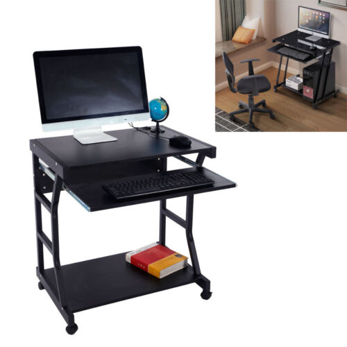 Computer Table Desk Laptop PC Tablet With Wheels Office Corn