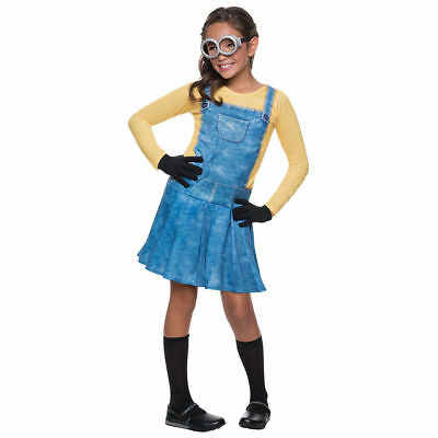 Girls Despicable Me Female Minion Costume Kids Child Halloween Dress Up](Minion Halloween Costume Girls)