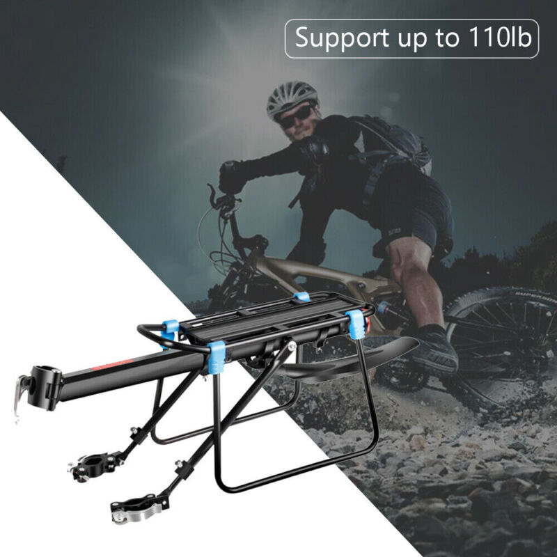 New Rear Bicycle Rack Cargo Rack Bike Quick Release Mount Alloy Carrier