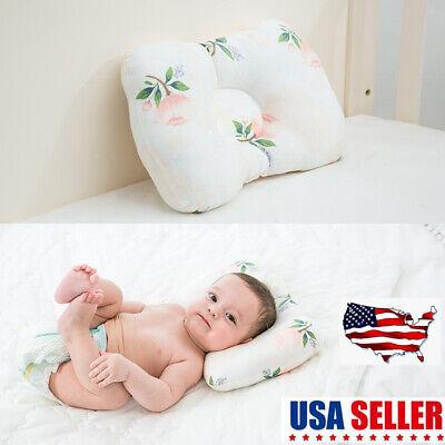 Baby Pillow Infant Shape Sleep Anti Roll Cushion Flat Head Protection Newborn US ()