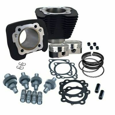 S&S SS Cycle Black Big Bore Hooligan Kit 1200cc Harley Sportster 00-2020 XL 883