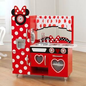 KidKraft Disney Jr. Minnie Mouse Vintage Kitchen, Red
