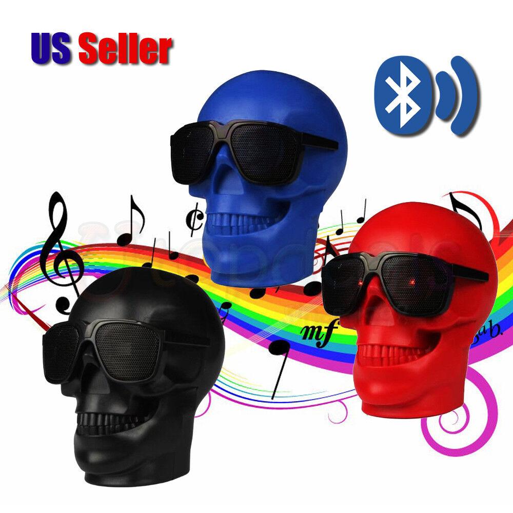$19.49 - Fashion Portable Skull Head Wireless Bluetooth Bass Stereo Speaker | US Seller