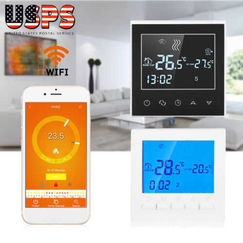 Programmable Wifi Wireless Thermostat LCD Touch Screen Digit