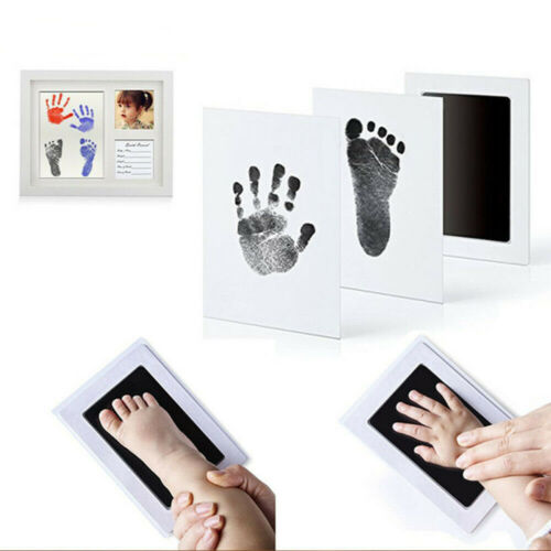 Baby Footprint Hand Print Kit 10 Colors Large Size Safe Ink Pad NO MESS Ink less