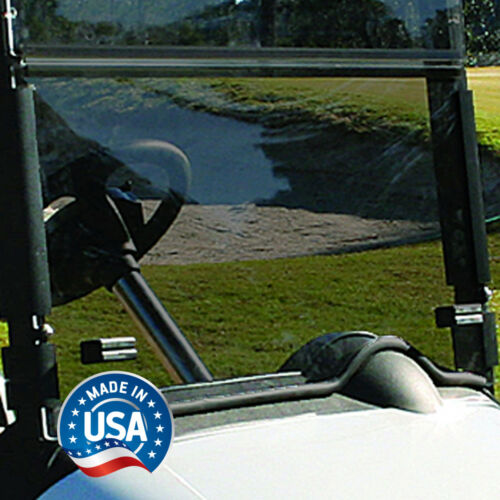 EZGO RXV Tinted (with Rubber Trim) Fold Down Golf Cart Windshield - US Made