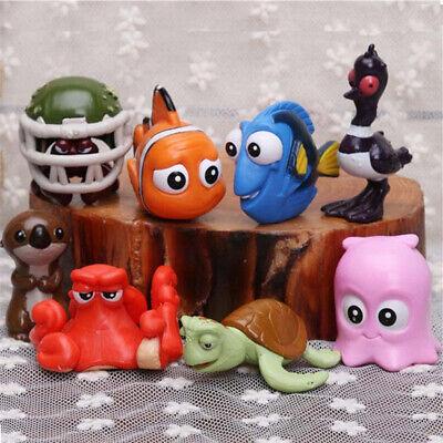 Finding Nemo Dory Nemo Crush Otter 8 PCS Action Figure Cake Topper Gift Doll Toy - Finding Nemo Cake Topper