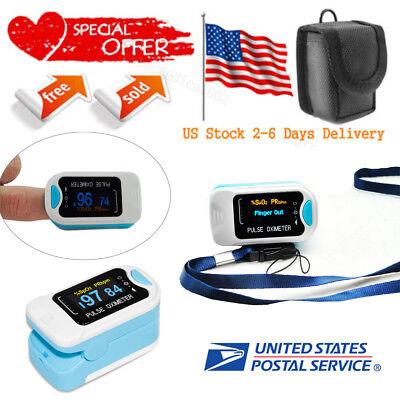 Usa Seller Cms50na Blood Oxygen Fingertip Pulse Oximeter Pr Spo2 Monitor Case
