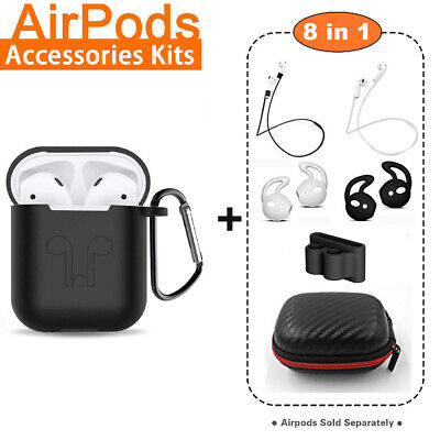 AirPods Silicone Case Cover Protective Skin for Apple AirPod Charging Case - Apple Lanyard