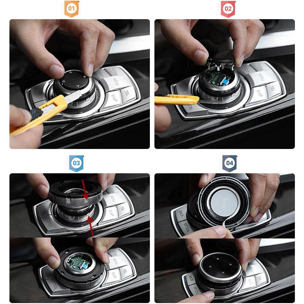 1PC Bigger Replace Multi-media Control Knob Trim For BMW 1 2 3 /&X4 X5 X6 IDRIVE